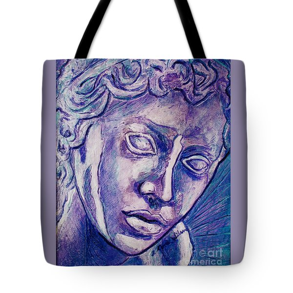 Tote Bag featuring the painting Don't Blink by D Renee Wilson
