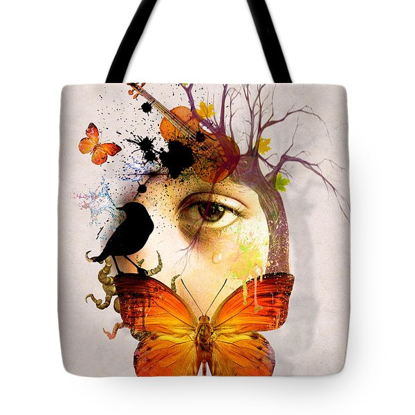 Don't Cry For Me Tote Bag by Mark Ashkenazi