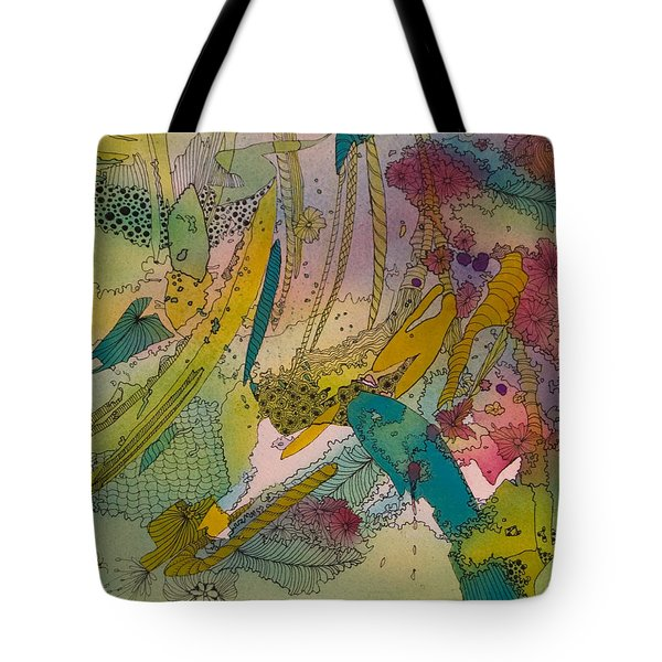 Doodles With Abstraction Tote Bag