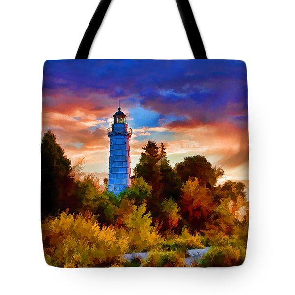 Door County Cana Island Wisp Tote Bag by Christopher Arndt