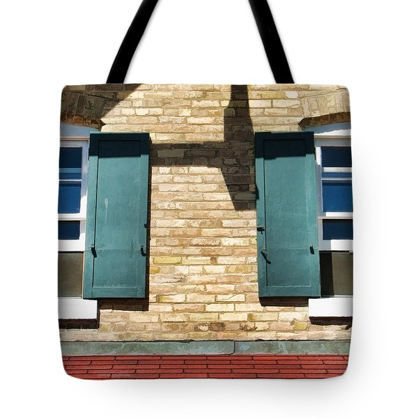 Door County Eagle Bluff Lighthouse Shutters Tote Bag