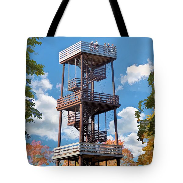 Door County Eagle Tower Peninsula State Park Tote Bag by Christopher Arndt