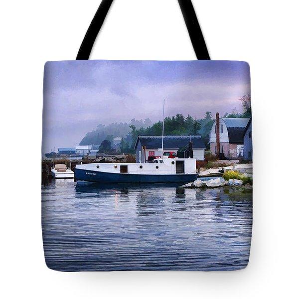 Door County Gills Rock Fishing Village Tote Bag