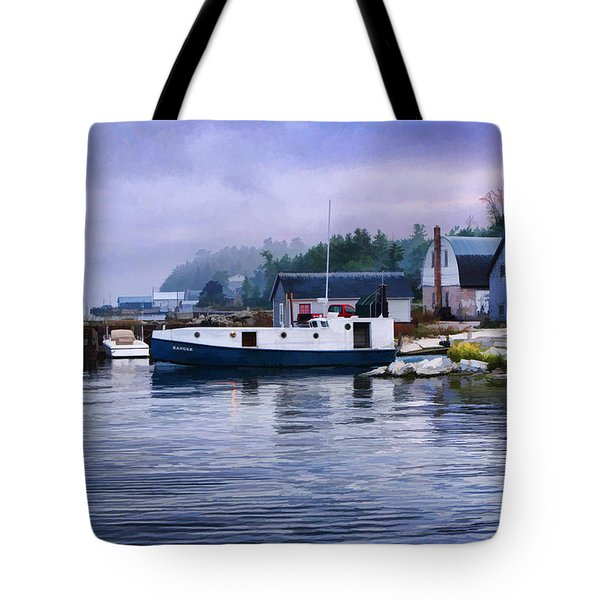 Door County Gills Rock Fishing Village Tote Bag