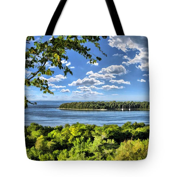 Door County Horseshoe Island Tote Bag