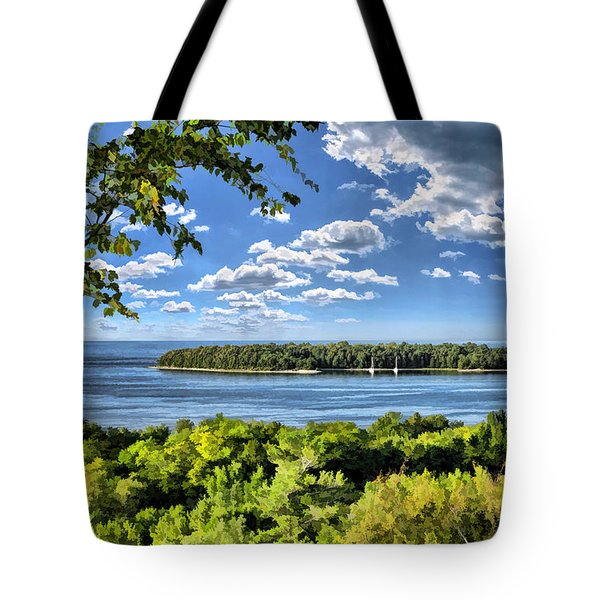 Door County Horseshoe Island Tote Bag