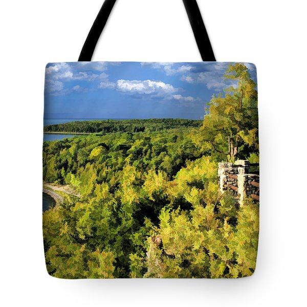 Door County Peninsula State Park Svens Bluff Overlook Tote Bag