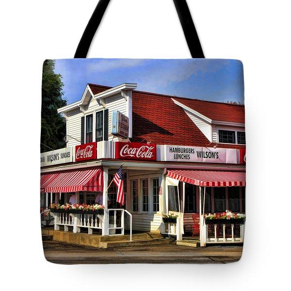 Door County Wilson's Ice Cream Store Tote Bag