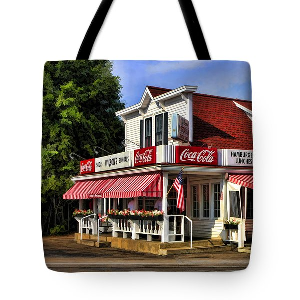 Door County Wilson's Ice Cream Store Tote Bag by Christopher Arndt
