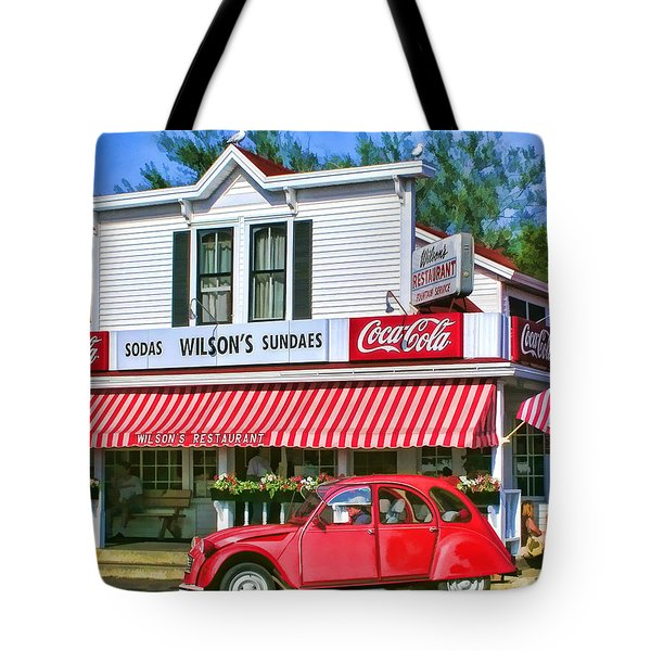 Door County Wilson's Restaurant And Ice Cream Parlor Tote Bag by Christopher Arndt