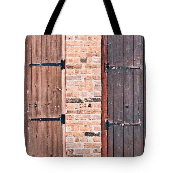 Door Hinges Tote Bag by Tom Gowanlock