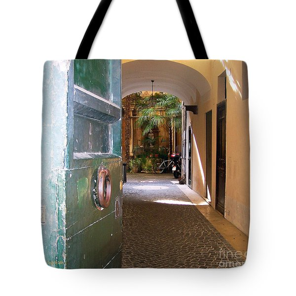 Door In Florence Tote Bag by Debby Pueschel