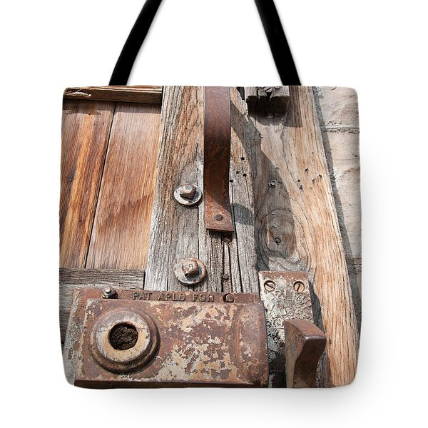 Tote Bag featuring the photograph Door Knob by Minnie Lippiatt