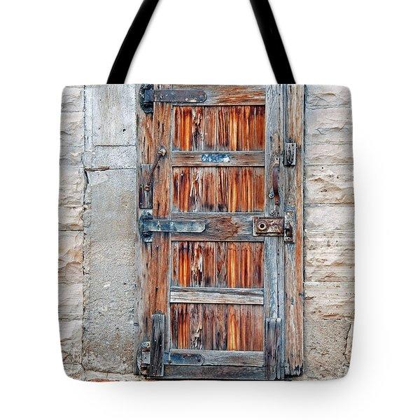Tote Bag featuring the photograph Door Series by Minnie Lippiatt