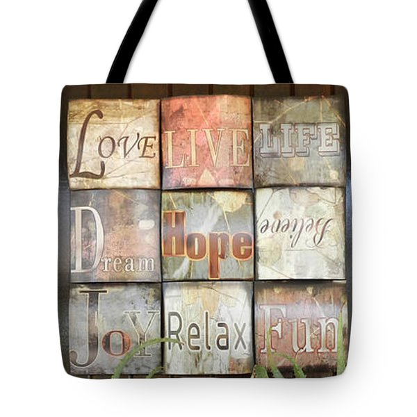 Door With A Message Tote Bag by Leana De Villiers