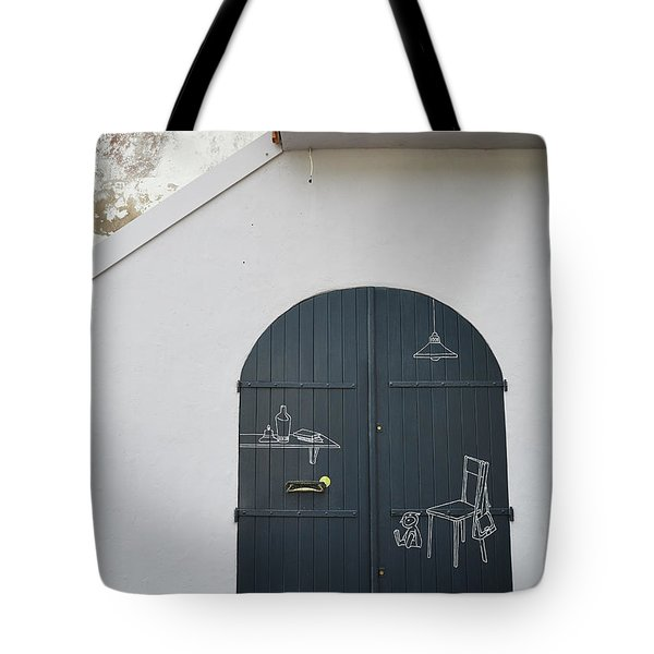 Door With Drawings Tote Bag