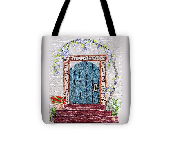 Door With Many Languages Tote Bag by Stephanie Callsen