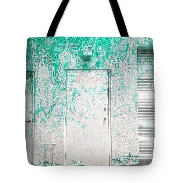 Door With Street Art Tote Bag