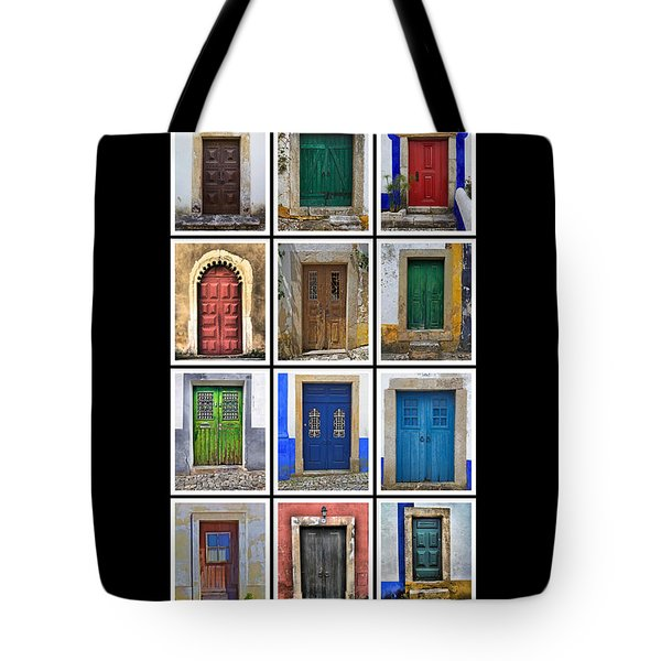Tote Bag featuring the photograph Doors Of Portugal by David Letts
