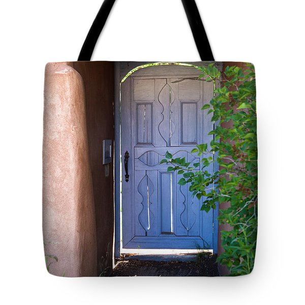 Tote Bag featuring the photograph Doors Of Santa Fe by Roselynne Broussard