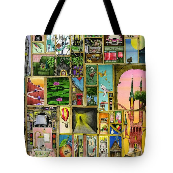 Doors Open Tote Bag by Colin Thompson