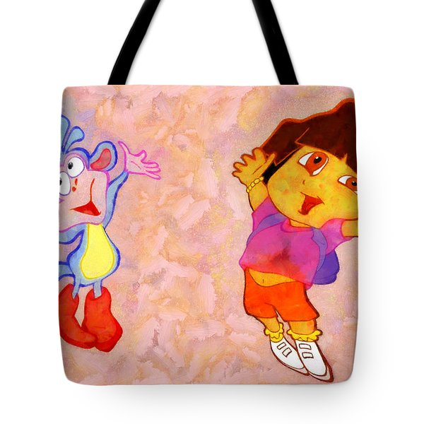 Dora And Boots Tote Bag by George Rossidis