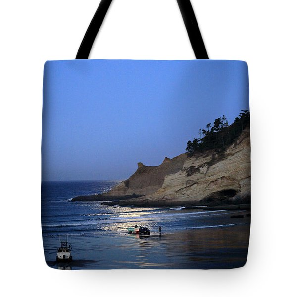 Dories At Dawn Tote Bag