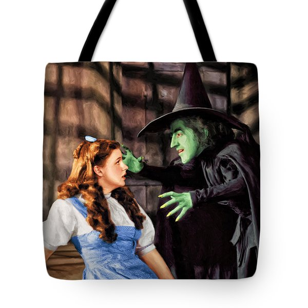 Dorothy And The Wicked Witch Tote Bag