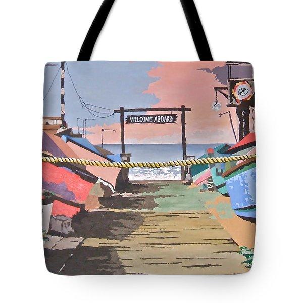 Dory Fishing Fleet -newport Beach Tote Bag