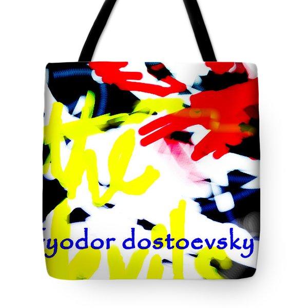 Dostoevsky's The Devils Poster  Tote Bag
