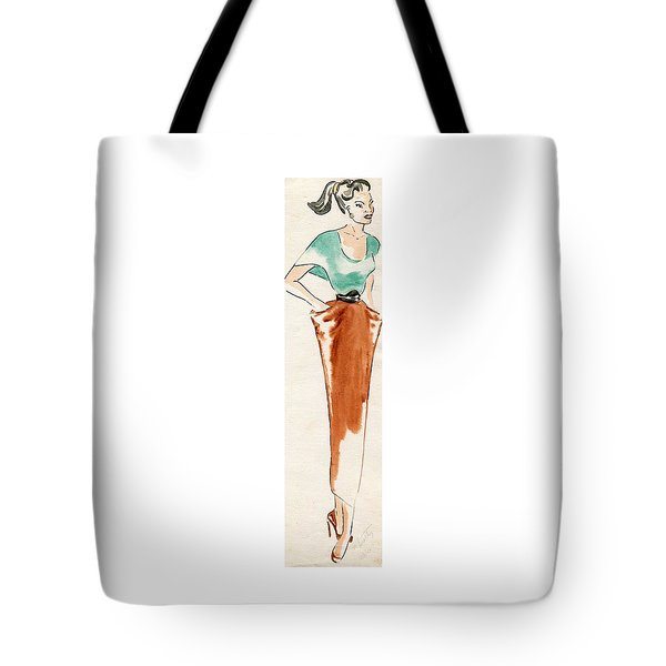 College Girl Tote Bag by Beverly Solomon Design