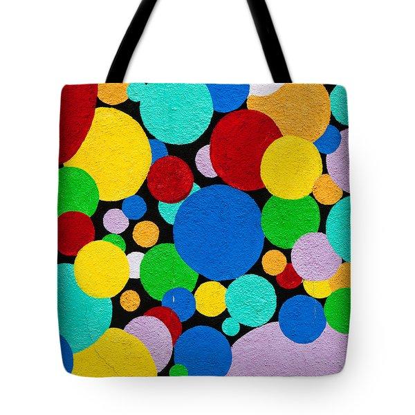 Dot Graffiti Tote Bag by Art Block Collections