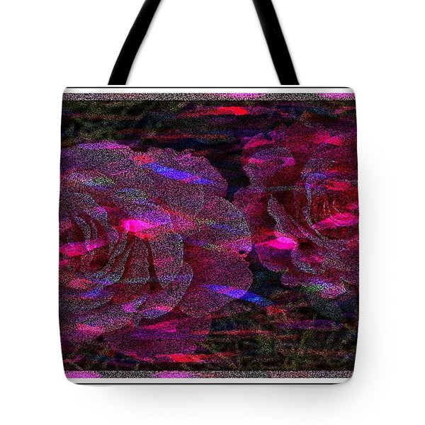 Dots Of Light And Roses Tote Bag by Barbara Griffin