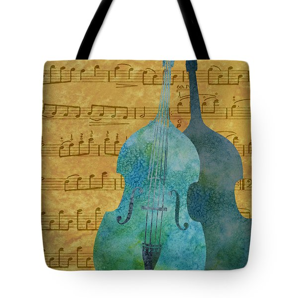 Double Bass Score Tote Bag