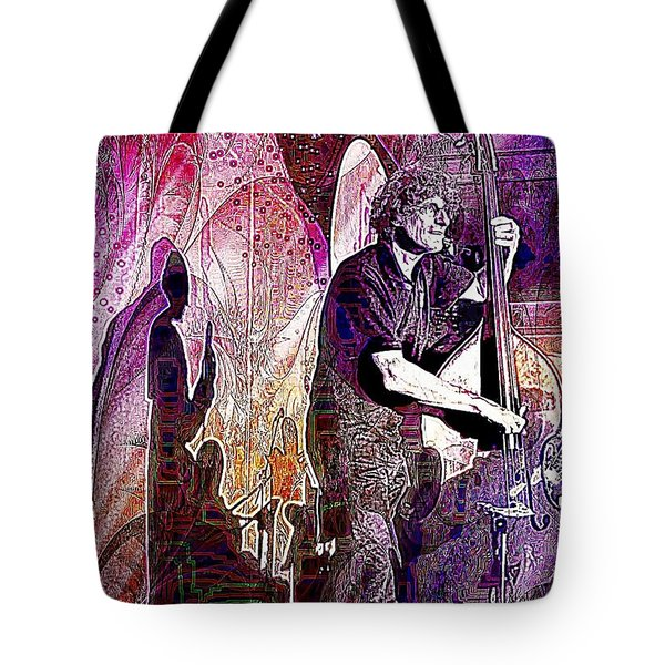 Double Bass Silhouette  Tote Bag