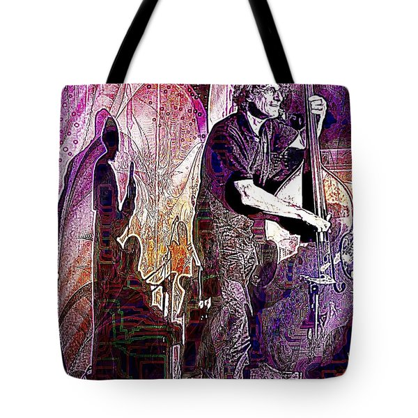 Double Bass Silhouette  Tote Bag by Ian Gledhill