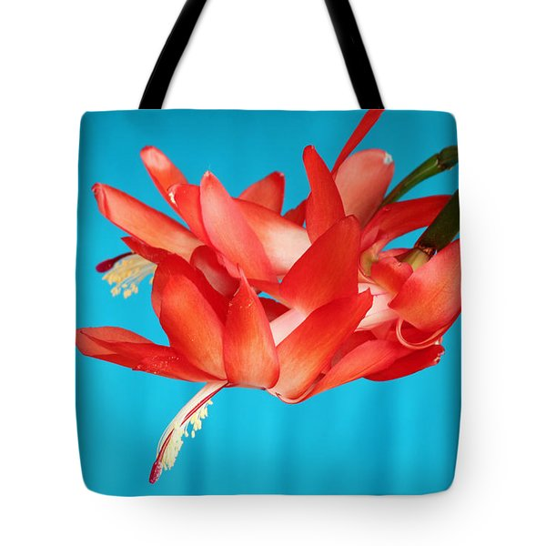 Double Bloom In Red Tote Bag