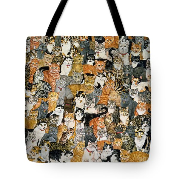 Double Cat Spread Tote Bag