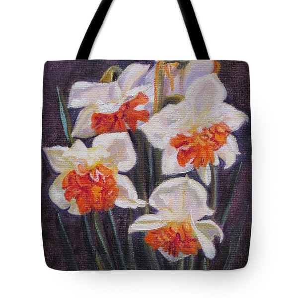 Double Daffodil Replete Tote Bag