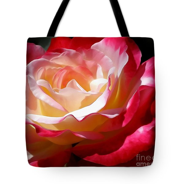 Double Delight Rose Tote Bag by Kaye Menner
