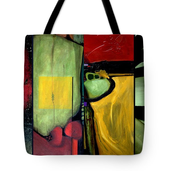 Double Diptychin' Tote Bag by Marlene Burns
