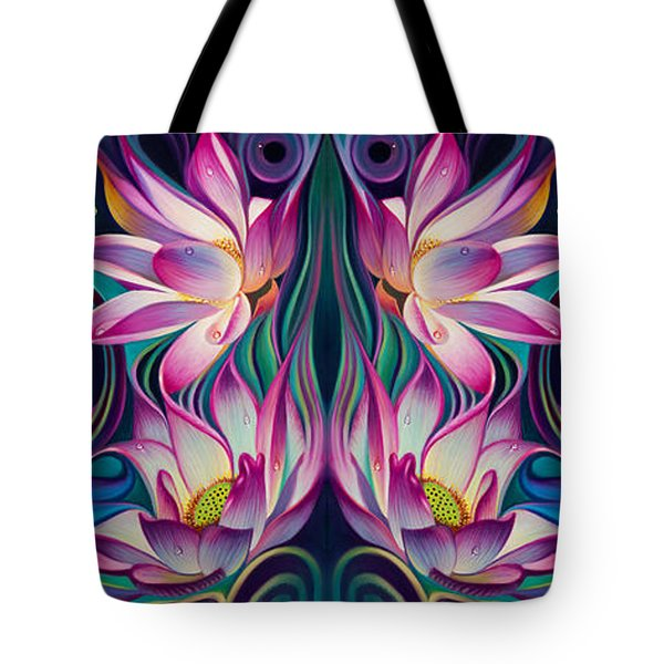 Double Floral Fantasy 2 Tote Bag