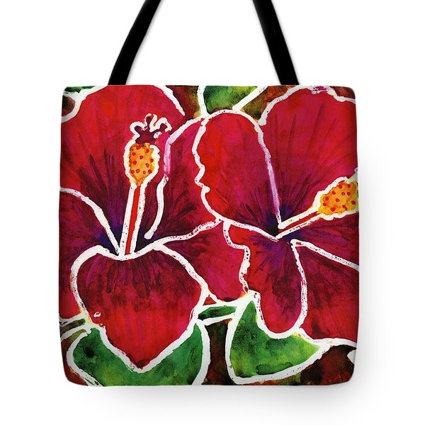 Double Hibiscus Tote Bag