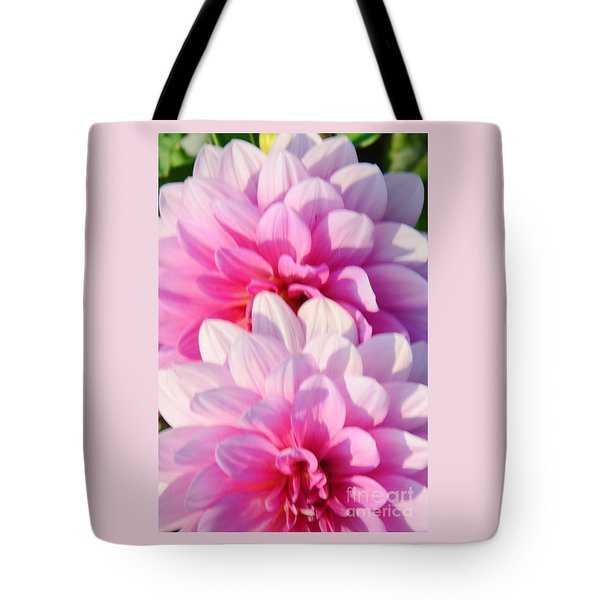 Double Pink Tote Bag by Kathleen Struckle