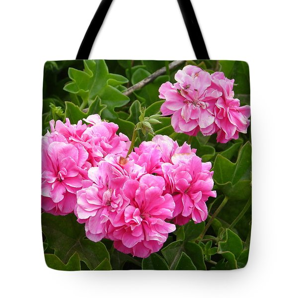 Tote Bag featuring the photograph Double Pink by Lew Davis