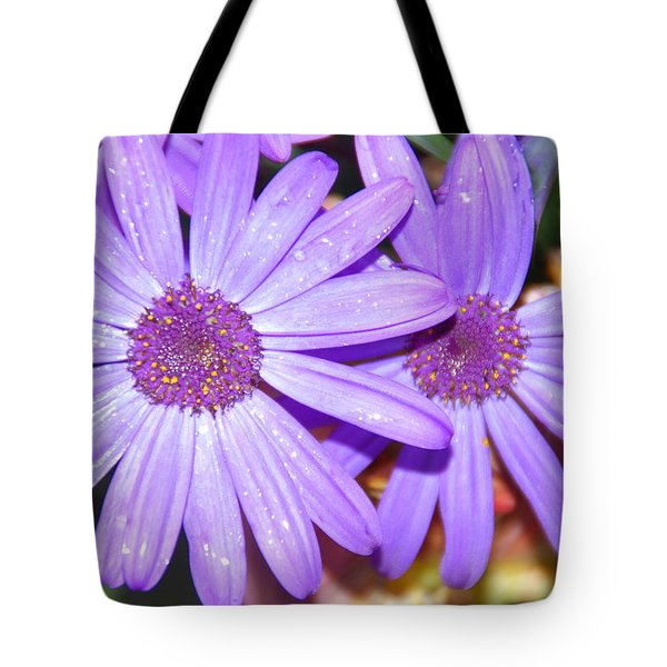 Double Purple Tote Bag