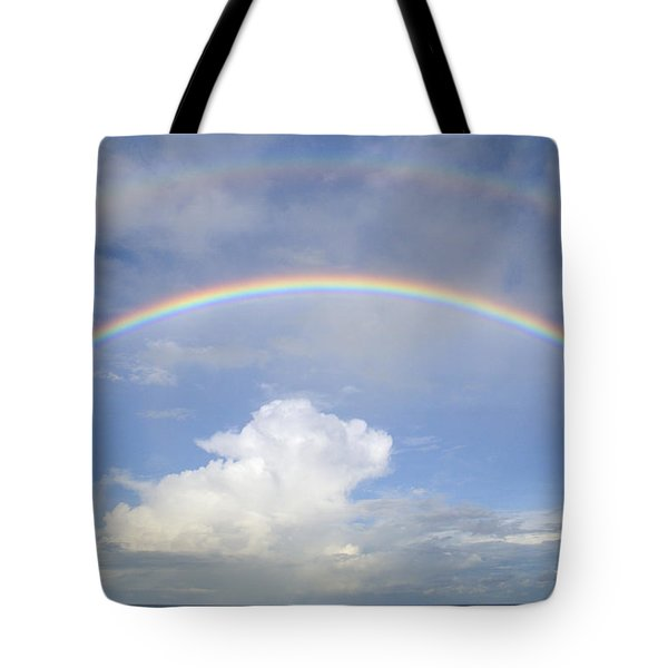 Double Rainbow At Sea Tote Bag