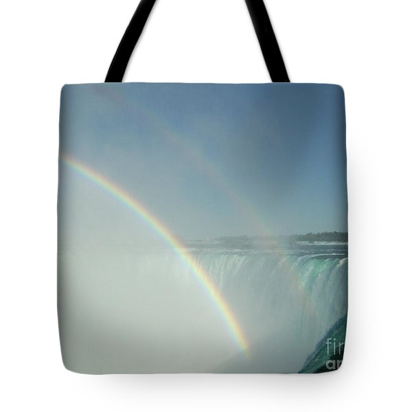Tote Bag featuring the photograph Double Rainbow by Brenda Brown