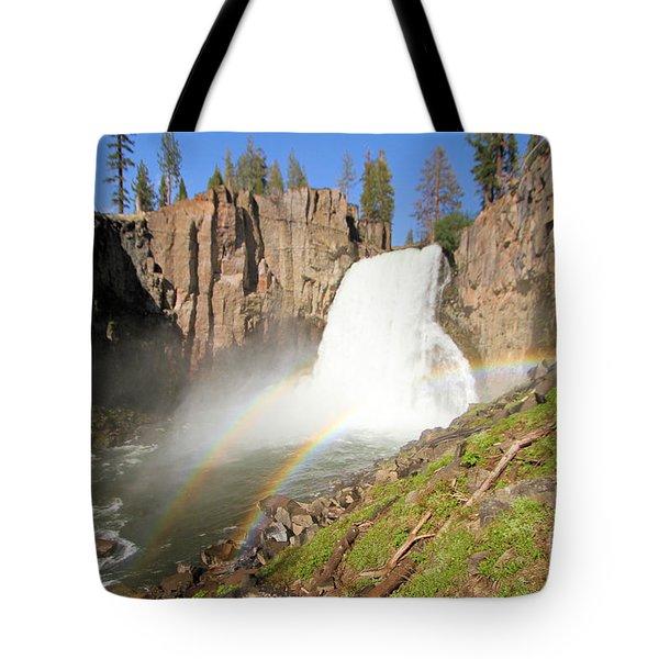 Double Rainbow Falls Tote Bag
