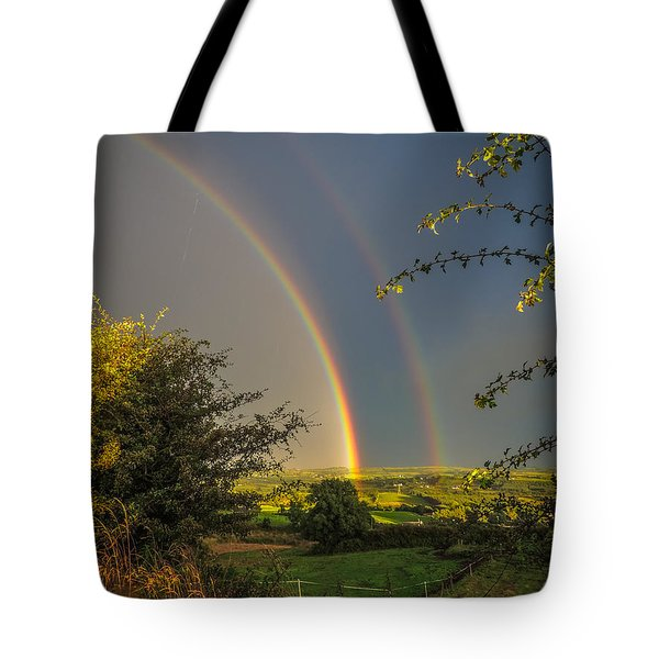 Double Rainbow Over County Clare Tote Bag